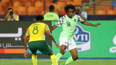 Nigeria v South Africa July 2019 - Alex Iwobi and Bongani Zungu
