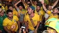 Torcida Brasil chegada Samara 30062018