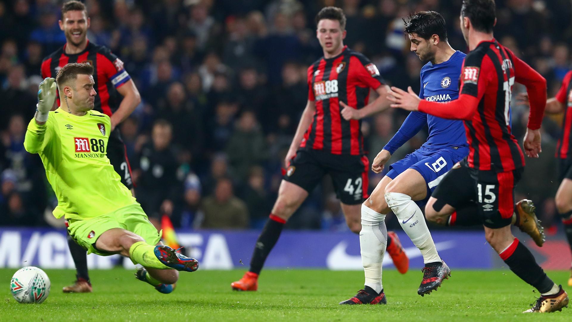 Alvaro Morata Chelsea Bournemouth