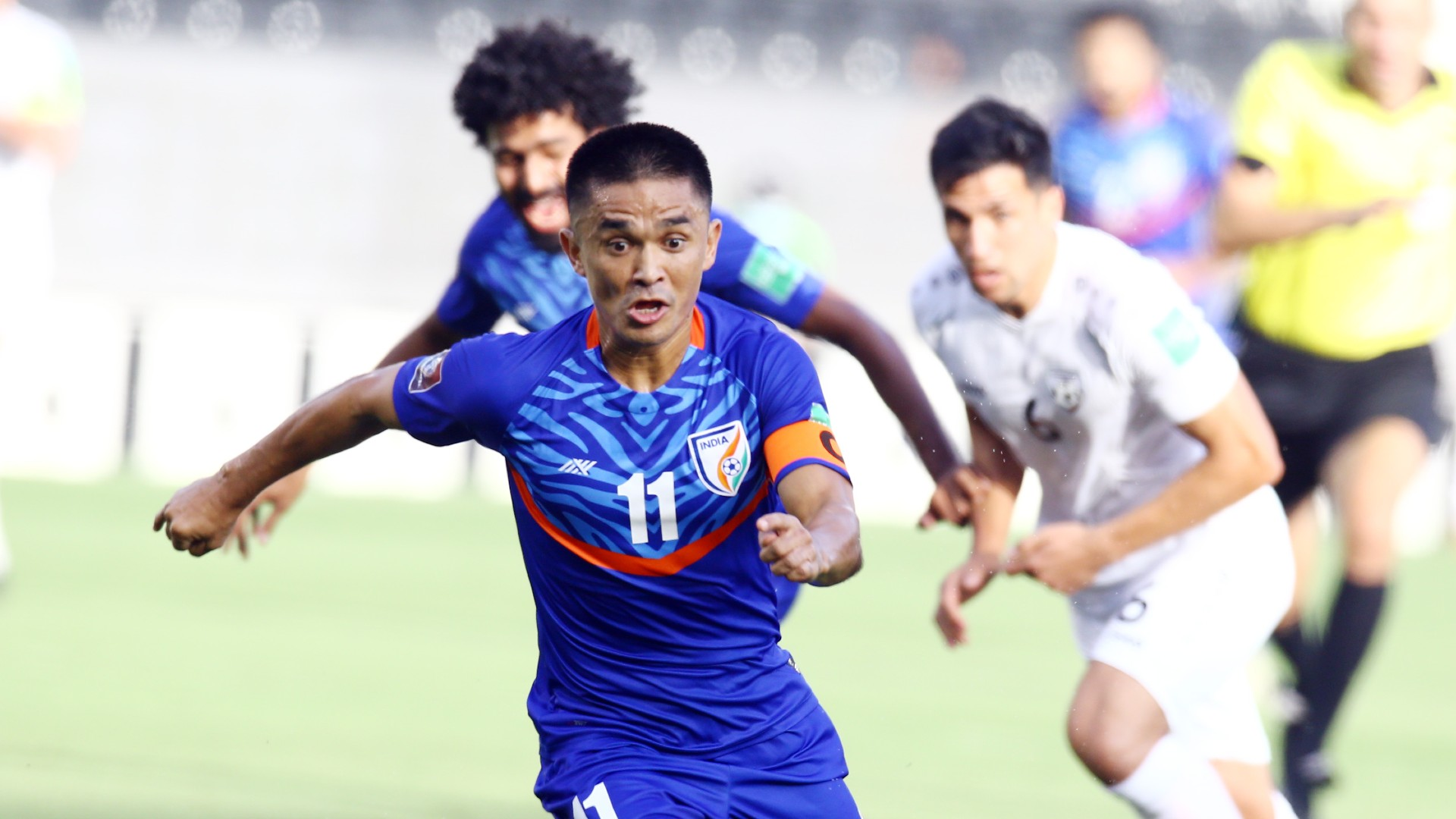 Where are Sunil Chhetri's team-mates from his international debut match now?