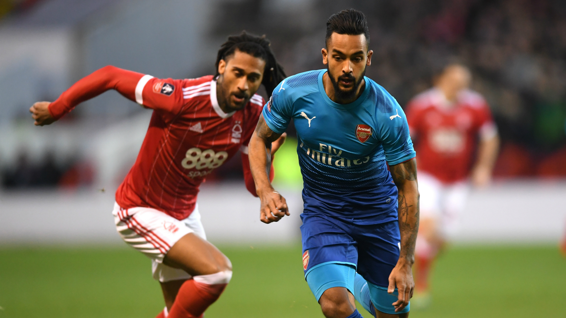 Armand Traore Theo Walcott Nottingham Forest Arsenal