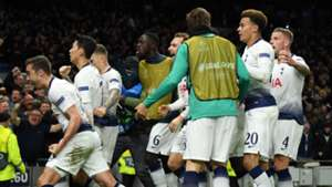 Tottenham celebrate vs Manchester City, UCL 2018-19