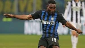 Kwadwo Asamoah reacts as Inter claim Derby di Milano honours