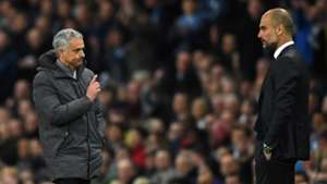Pep Guardiola Manchester City Jose Mourinho Manchester United Premier League