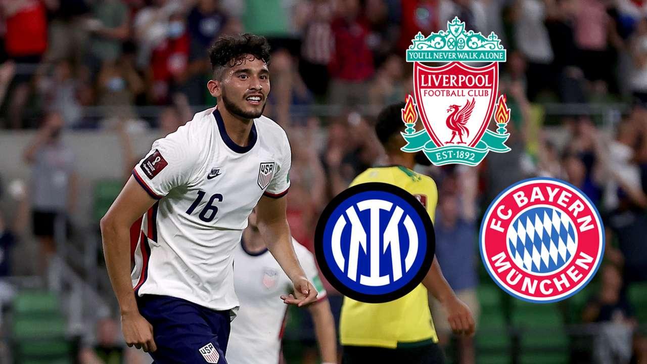 Ricardo Pepi USMNT Liverpool Inter Bayern Munich GFX