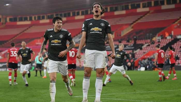 Cavani Man Utd Southampton 2020