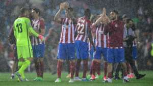 Atletico Madrid chuva Real Madrid Calderon Champions League 10 05 2017