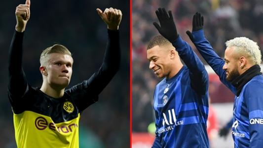 Dortmund vs. PSG: El efecto Haaland contra su espejo Mbappé y con Neymar de invitado   Goal.com