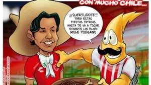 Matías Fernández cartoon Necaxa