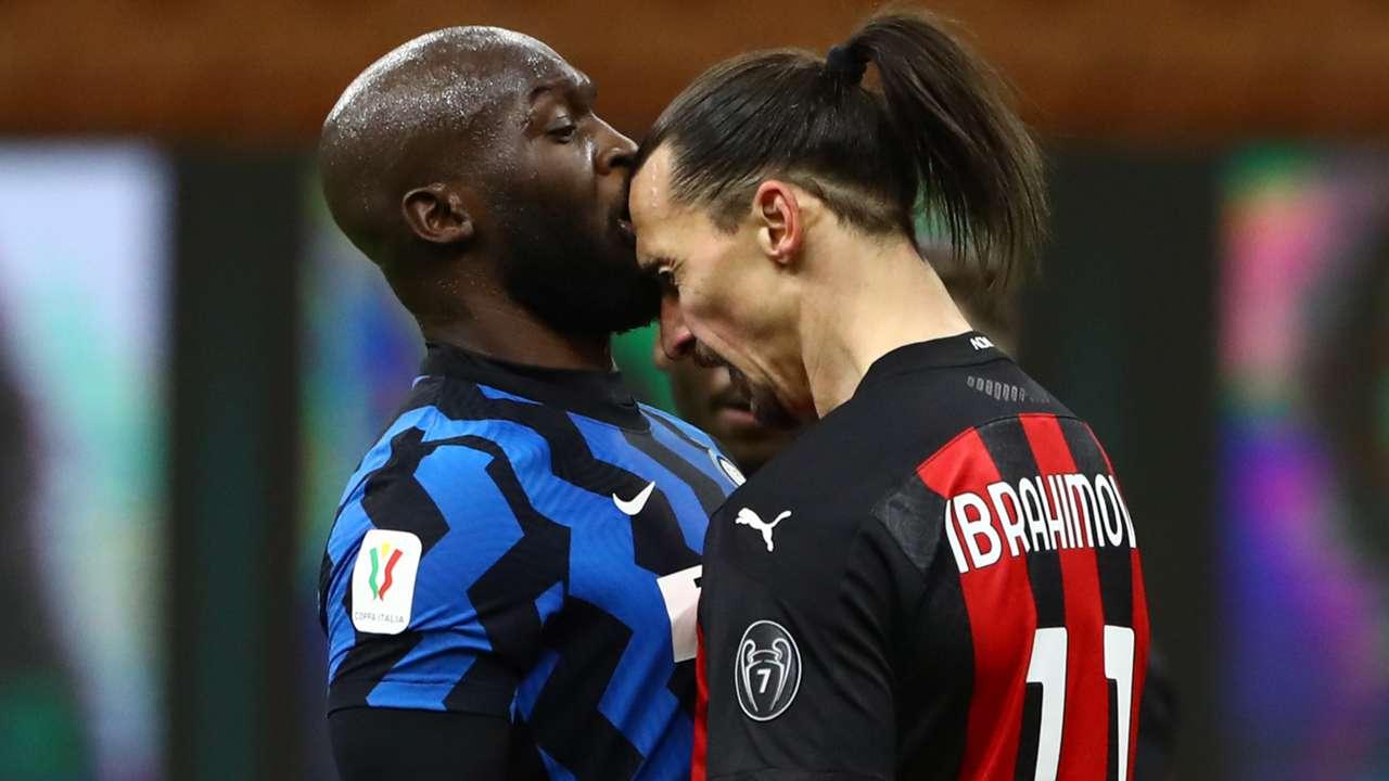 Romelu Lukaku Zlatan Ibrahimovic Inter AC Milan