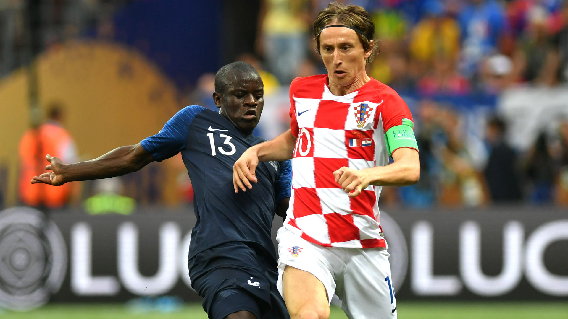 Luka Modric N'Golo Kante France Croatia World Cup Final 15072018