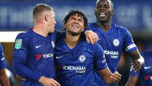 Reece James with Ross Barkley and Marc Guehi at Chelsea