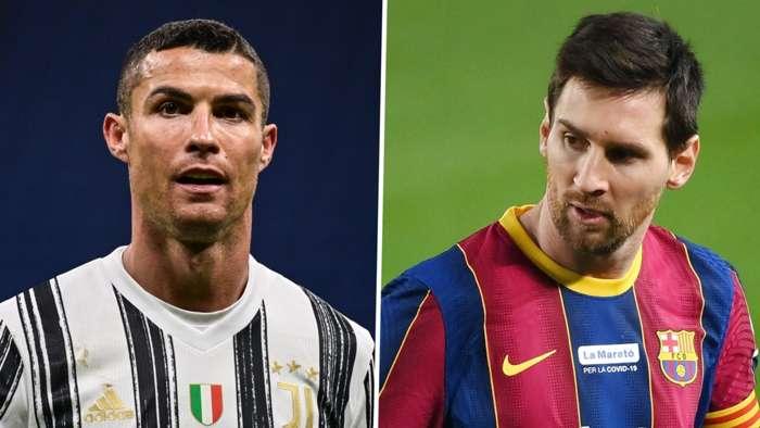 Cristiano Ronaldo Lionel Messi 2020-21 Juventus Barcelona