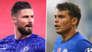 Giroud Thiago Silva Chelsea 2021