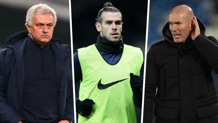 Gareth Bale Jose Mourinho Zinedine Zidane Tottenham Real Madrid GFX