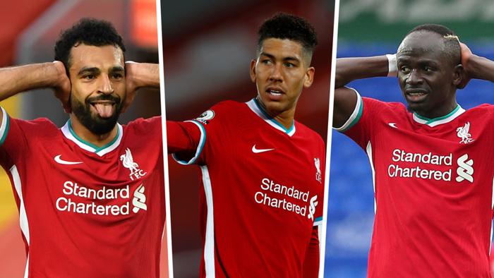 Mohamed Salah Roberto Firmino Sadio Mane Liverpool 2020
