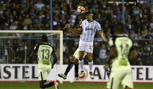 Leandro Diaz Atletico Tucuman - Jorman Campuzano of Atletico Nacional Copa Libertadores 09082018