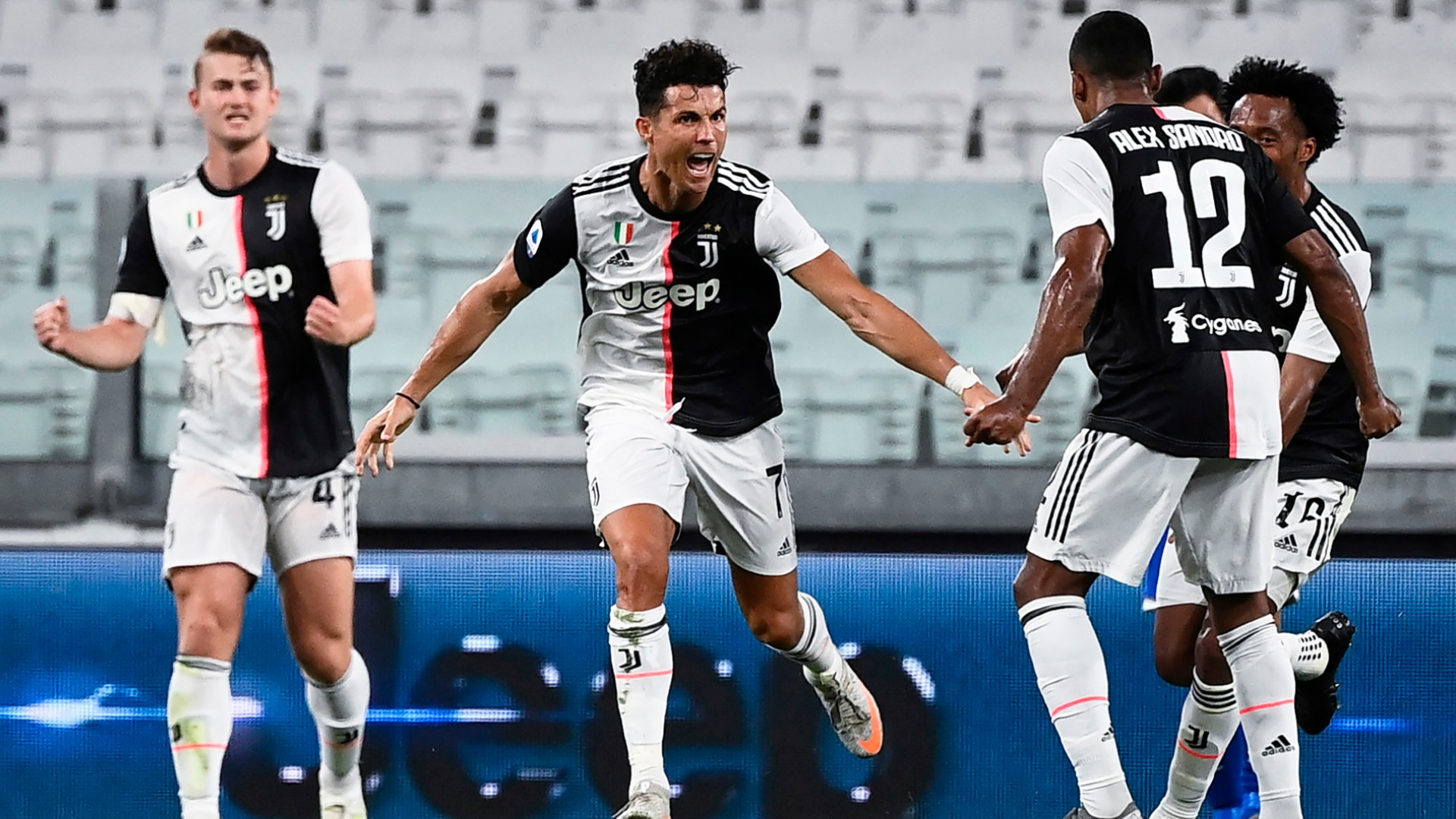 Ronaldo scores to help Juventus clinch ninth consecutive Serie A title