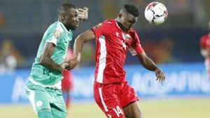 Michael Olunga of Kenya and Harambee Stars v Senegal.