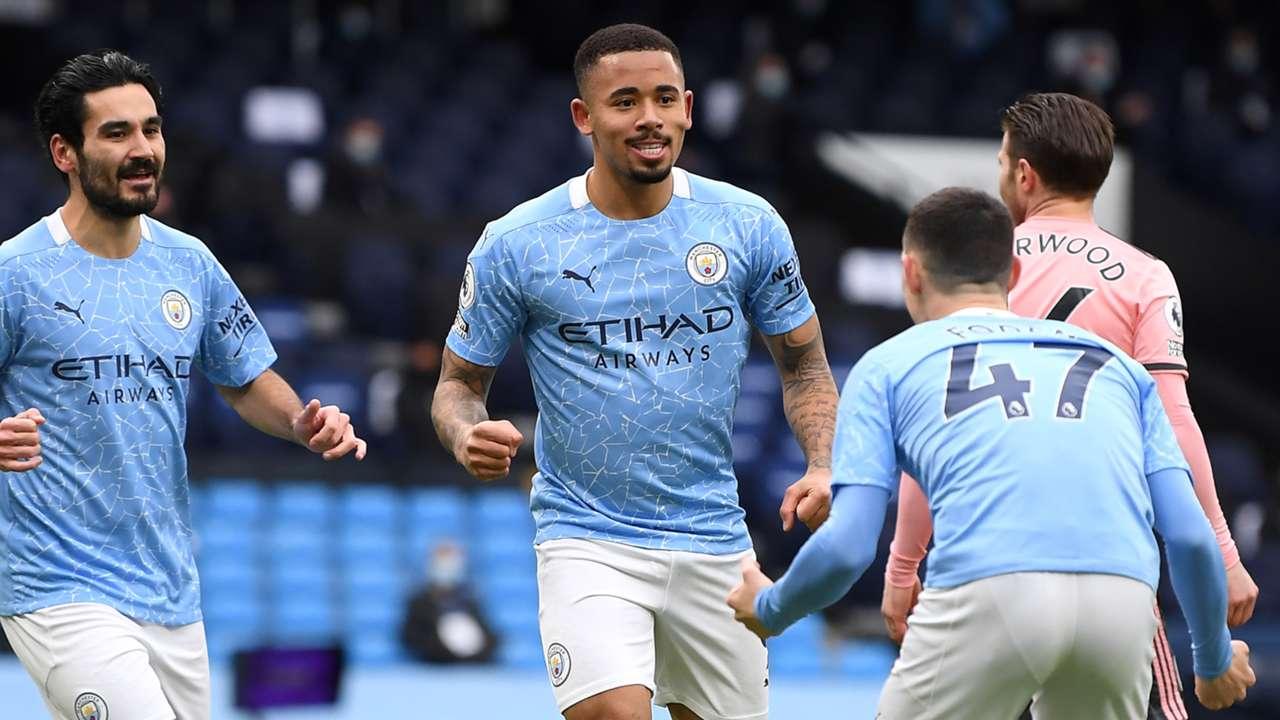 Gabriel Jesus Manchester City Sheffield United Premier League 2020-21