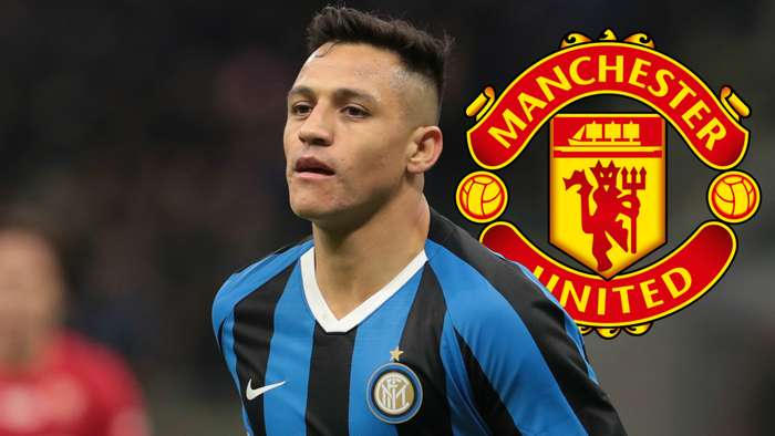 Alexis Sanchez, Inter, Man Utd badge
