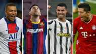 Mbappe Messi Ronaldo Lewandowski GFX