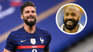 Olivier Giroud Thierry Henry