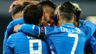 Napoli celebrating Bologna Serie A