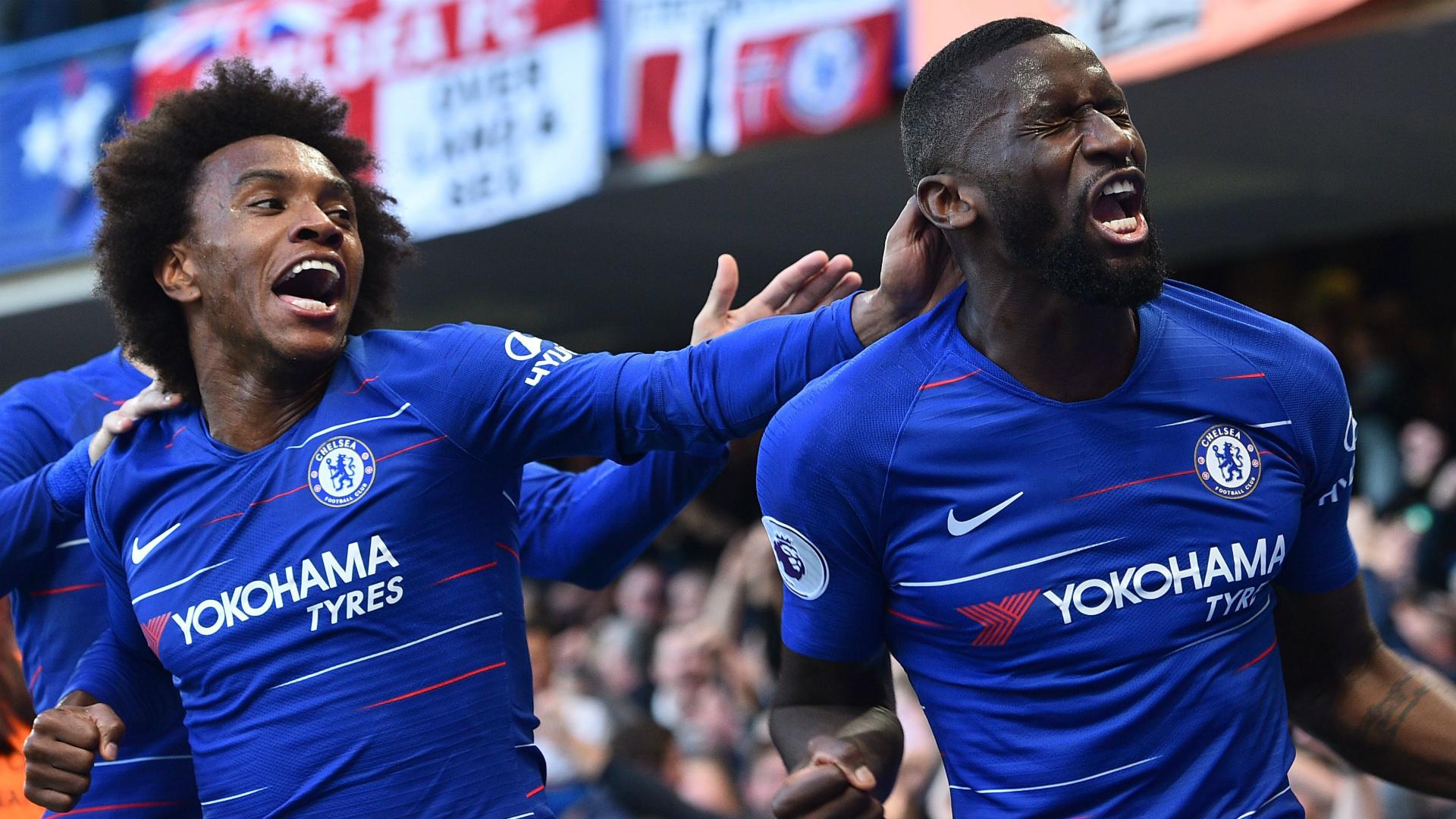 Willian Antonio Rudiger Chelsea 2018