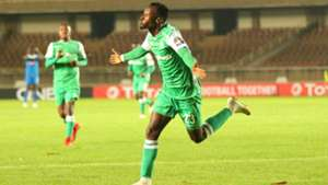 Gor Mahia striker Francis Mustapha celebrates against Rayon Sports.