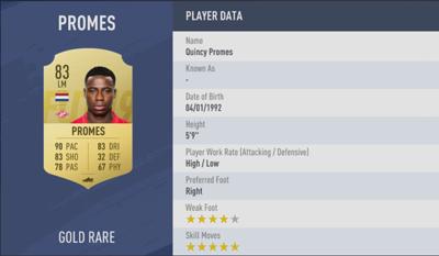 Quincy Promes | FIFA 19