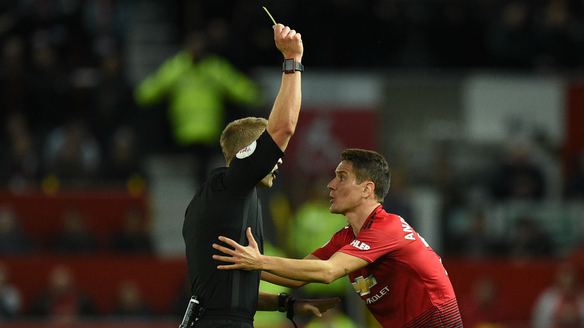 Ander Herrera Manchester United yellow card