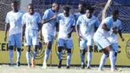 Sofapaka players celebrate v Tusker.