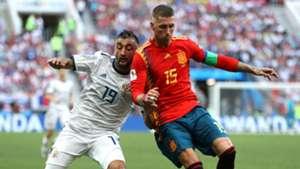 Alexander Samedov Sergio Ramos Russia Spain World Cup 2018