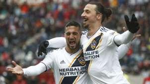 Zlatan Ibrahimovic Sebastian Lletget LA Galaxy