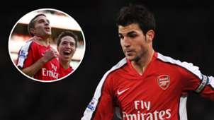 Robin van Persie Samir Nasri Cesc Fabregas Arsenal