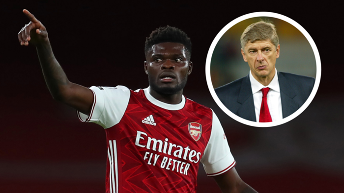 Thomas Partey and Arsene Wenger main image