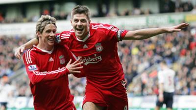 Steven Gerrard Fernando Torres Liverpool 2008-09