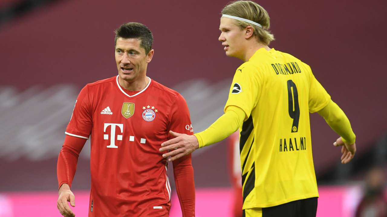 Robert Lewandowski Bayern Munich Erling Haaland Borussia Dortmund 2020-21