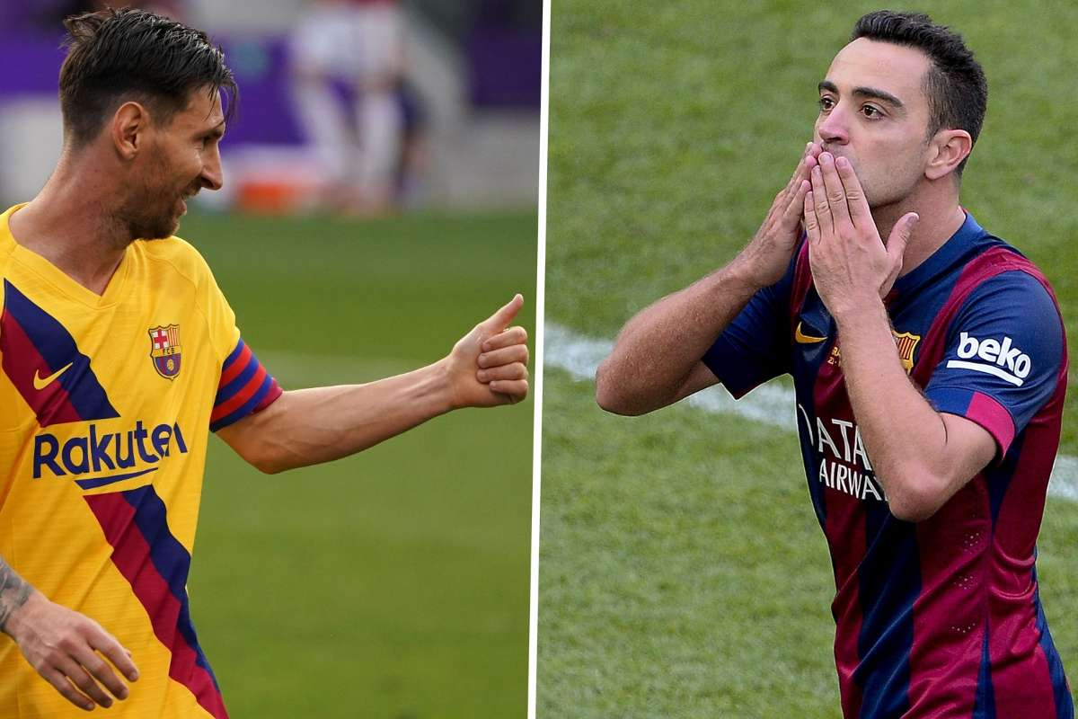 The New Xavi Barcelona Legend Messi Really Can Do It All Goal Com