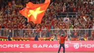 Coach Park Hang-seo with Vietnamese flag | U22 Vietnam vs U22 Indonesia | SEA Games 30 - 2019 | Finals