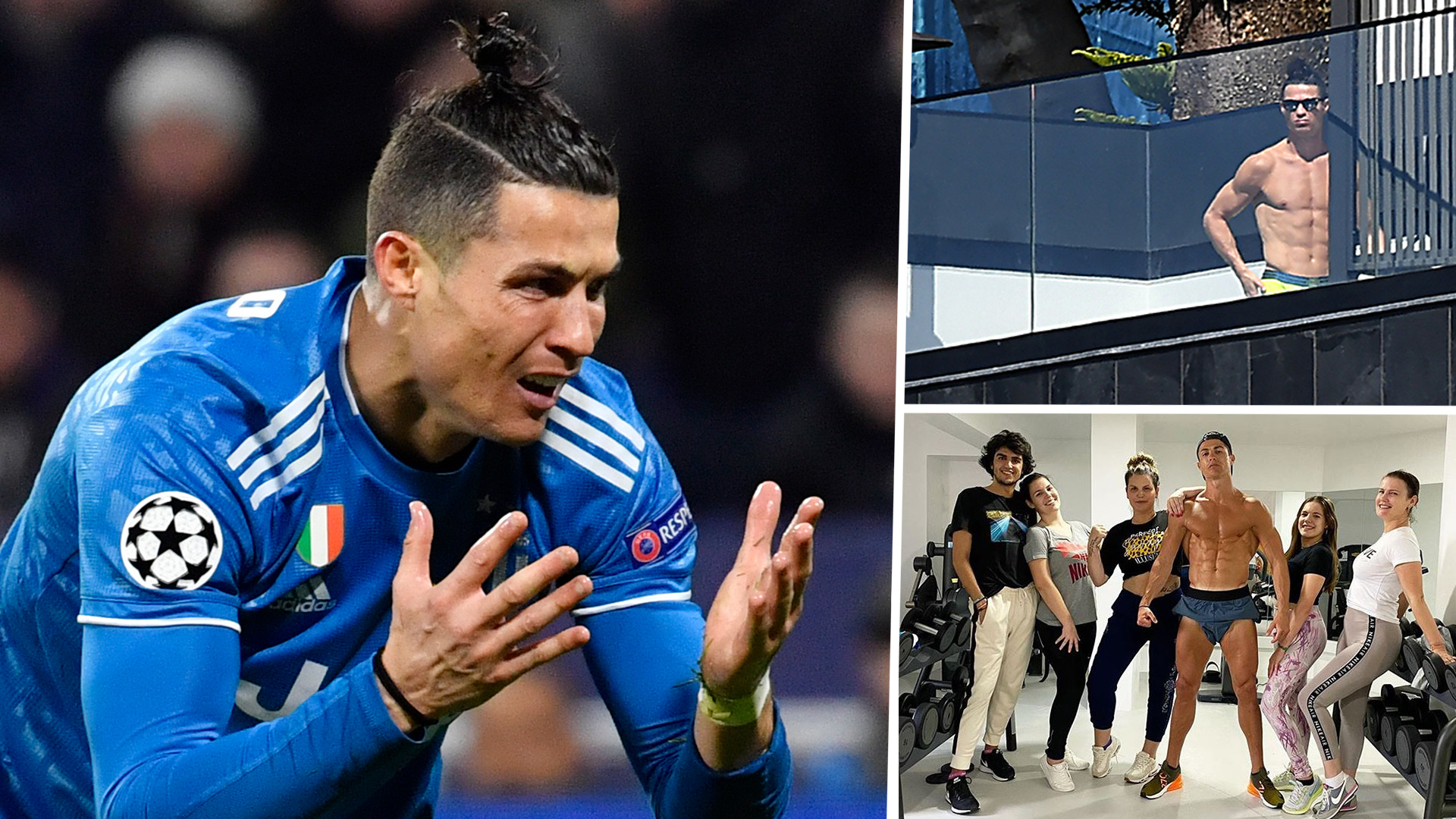 Ronaldo Only Appears To Be Taking Pictures By The Pool Juventus Star S Quarantine Behaviour Criticised Goal Com