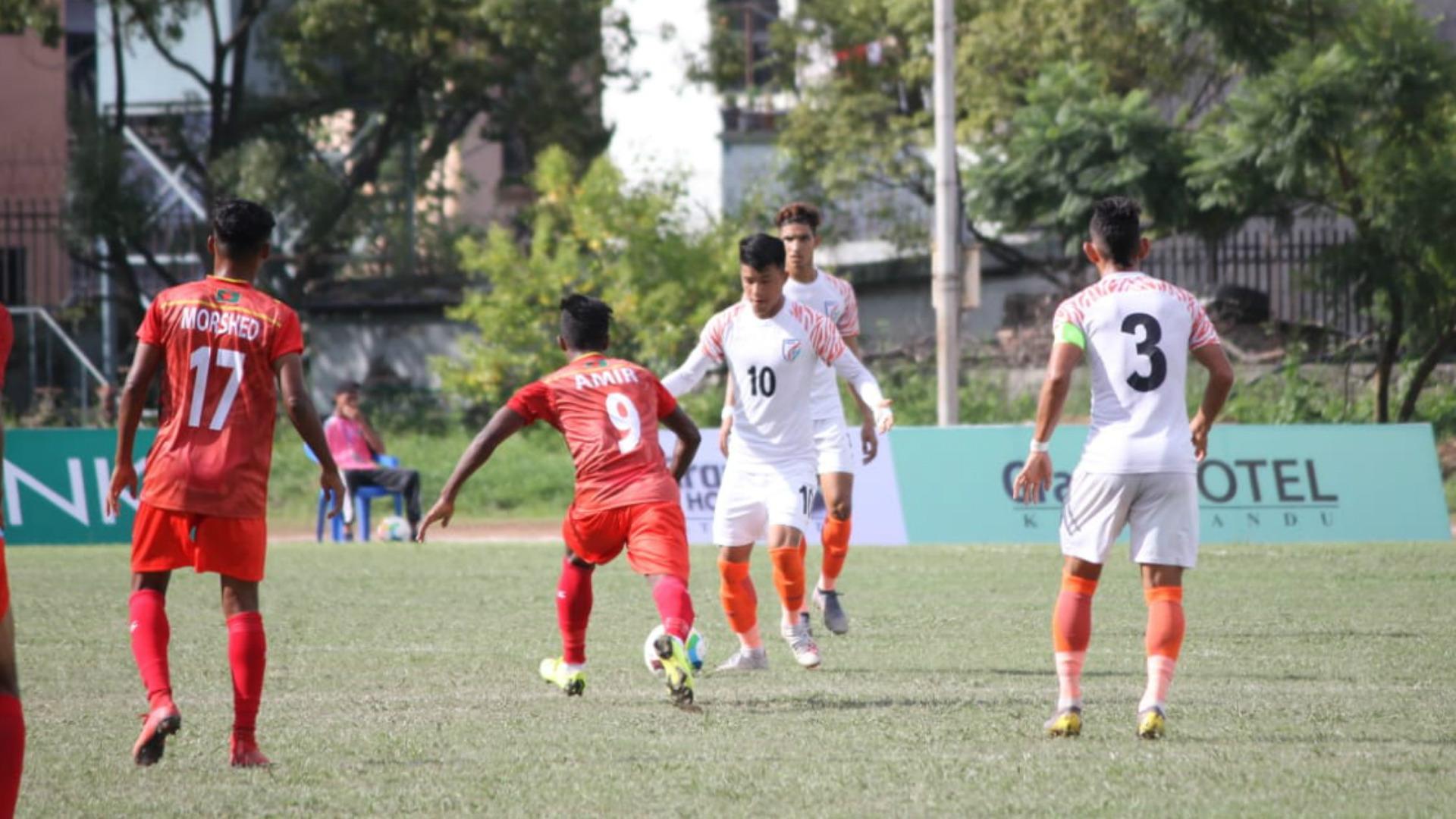 Givson Singh India U18 Bangladesh 2019 SAFF U18 Championship