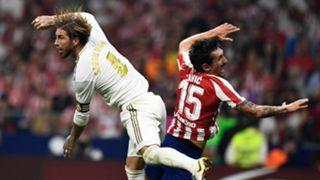 Sergio Ramos Stefan Savic Real Madrid Atletico Madrid 2019-20