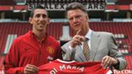 Angel Di Maria Louis van Gaal Man Utd