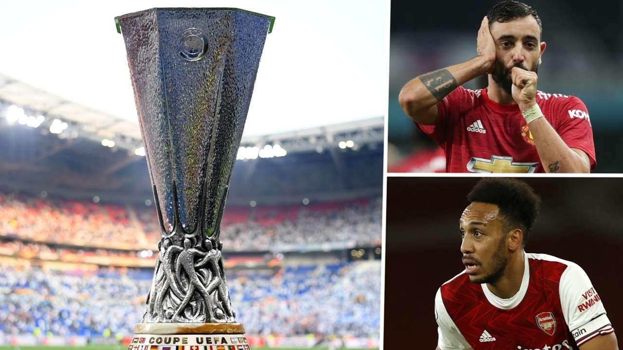 Europa League Bruno Fernandes Manchester United Pierre-Emerick Aubameyang Arsenal 2020-21