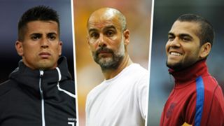 Joao Cancelo Pep Guardiola Dani Alves