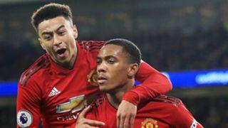 Jesse Lingard Anthony Martial Cardiff vs Manchester United Premier League 2018-19