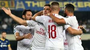 Hellas Verona Milan Serie A Piatek Calhanoglu Rebic Musacchio