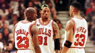 Michael Jordan Dennis Rodman Scottie Pippen Chicago Bulls
